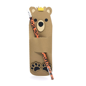pencil holder bear with crown card