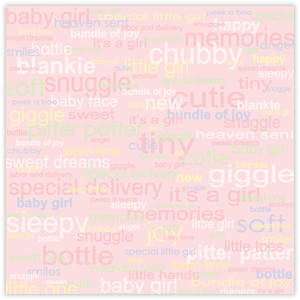 baby girl words paper