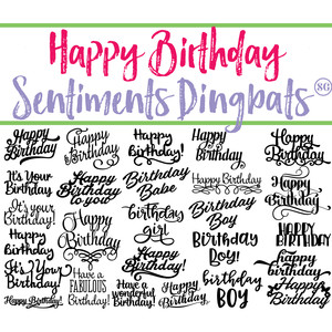 sg happy birthday sentiments dingbats