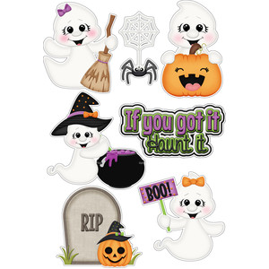 halloween ghosts if you got it haunt it stickers