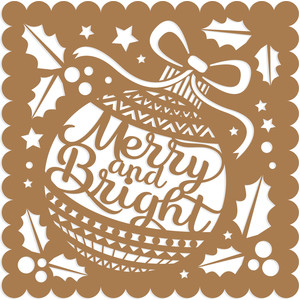 merry & bright card front