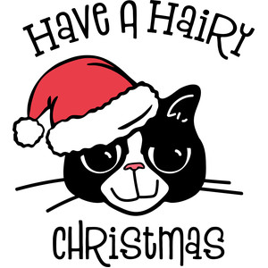 have a hairy christmas cat