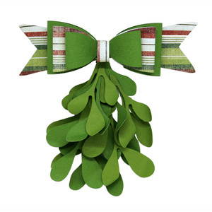 mistletoe with bow