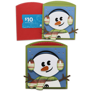 snowman gift card envelope