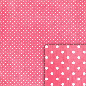 pink polka dot background paper