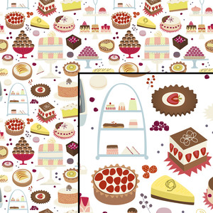 cakes and sweets pattern
