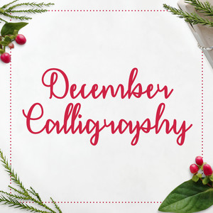 december calligraphy font