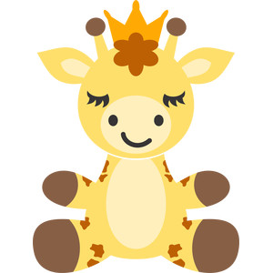 giraffe and crown