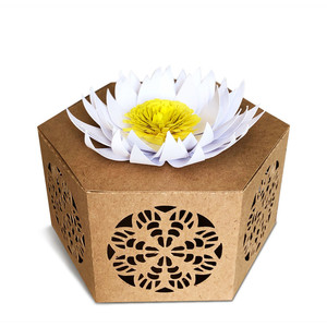 gift box with chrysanthemum