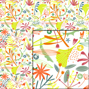tropical jungle foliage pattern