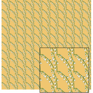 lily of the valley pattern on gold