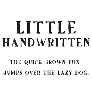 cg little handwritten font