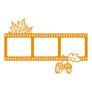 autumn film photo frame
