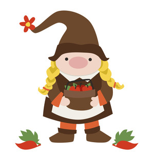 gnome with apples