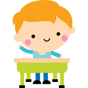 boy at desk - school days