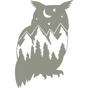 owl mountain scene