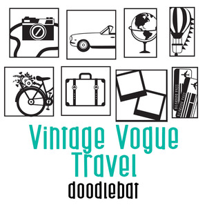 vintage vogue travel doodlebat