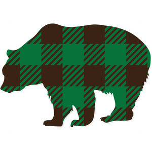buffalo plaid grizzly bear