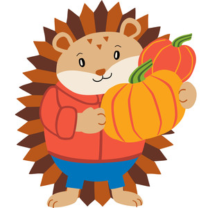 happy harvest hedgehog