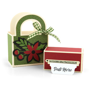 money roll gift bag set holly