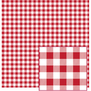 red and white buffalo plaid