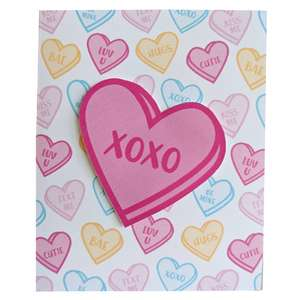 candy heart valentine card
