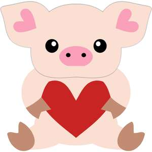 little pig and heart