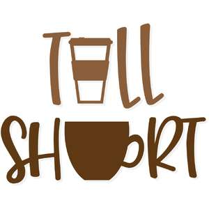 tall and short coffee
