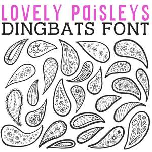 cg lovely paisleys dingbats