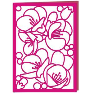 quince blossom card