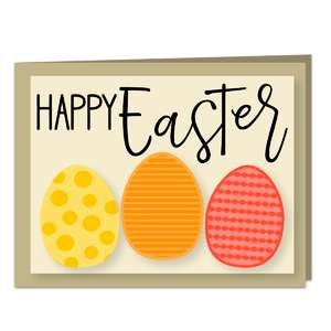happy easter a2 card