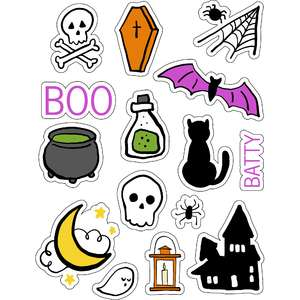 ml halloween cute icons stickers