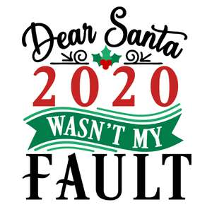 dear santa 2020 not my fault