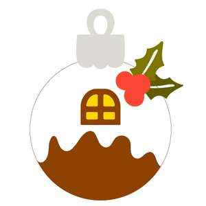 christmas pudding ornament