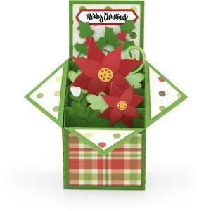 tiered box card poinsettia