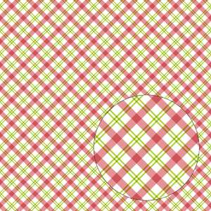 red & green christmas plaid seamless pattern