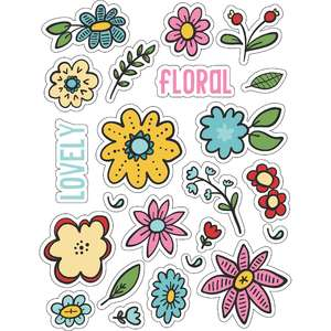 ml floral floral stickers