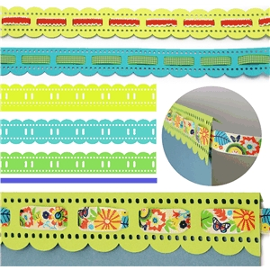 borders eyelet lace ribbon weave