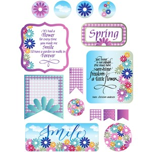 flowery day stickers and quotes
