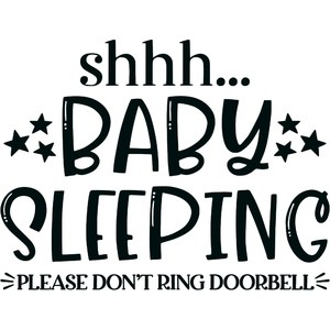 baby sleeping - do not disturb sign