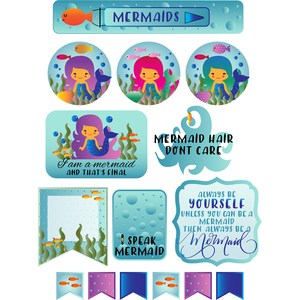 mermaid stickers and quotes