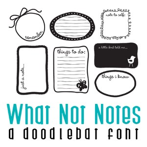 what not notes doodlebat font
