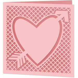 arrow heart lattice card