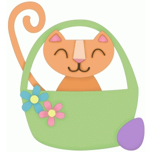 easter kitty in a basket
