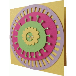 abstract card flower