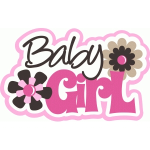 baby girl title with flowers