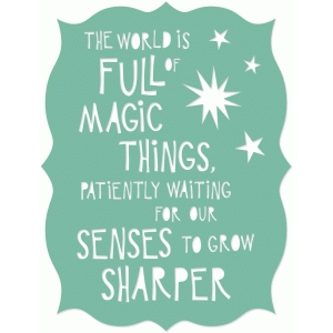 magic things quote