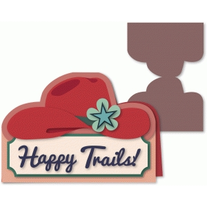 cowgirl hat happy trails card