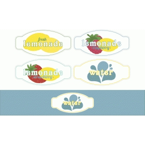 barbecue drink labels