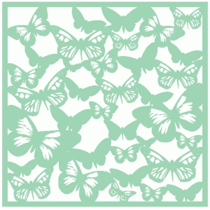 butterfly silhouette background / template